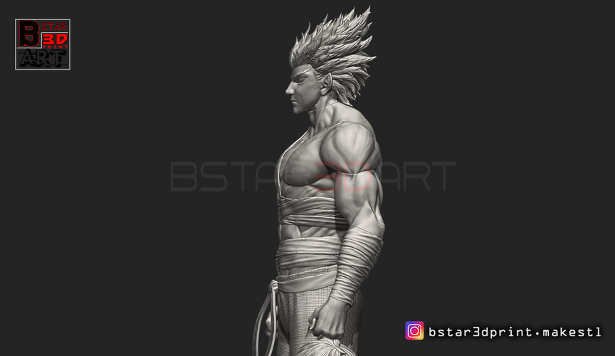 ​Garou - One punch Man - Fan Art - Realistic Version 3D Print 250542
