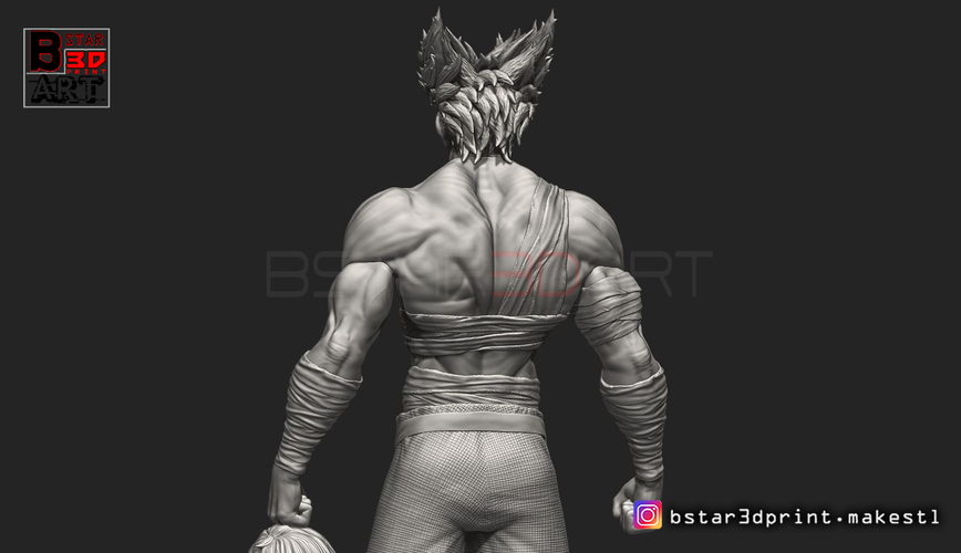 ​Garou - One punch Man - Fan Art - Realistic Version 3D Print 250543
