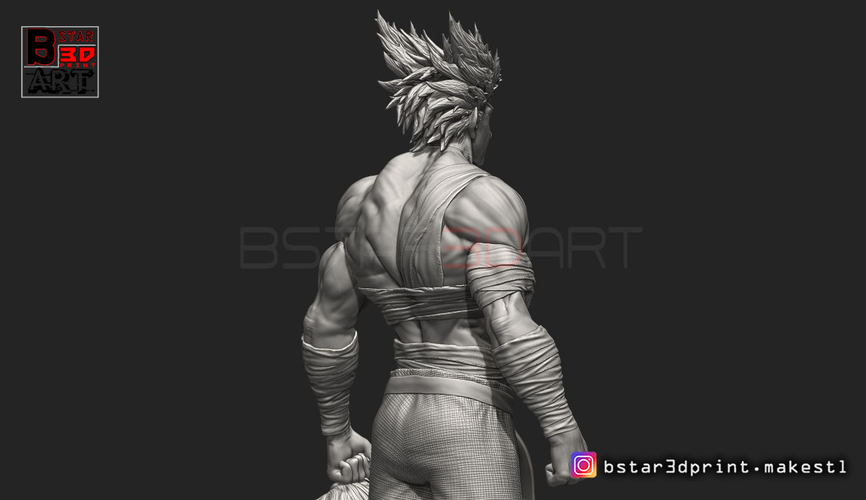 ​Garou - One punch Man - Fan Art - Realistic Version 3D Print 250544