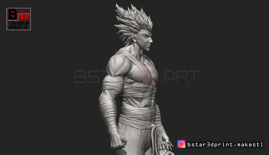 ​Garou - One punch Man - Fan Art - Realistic Version 3D Print 250545