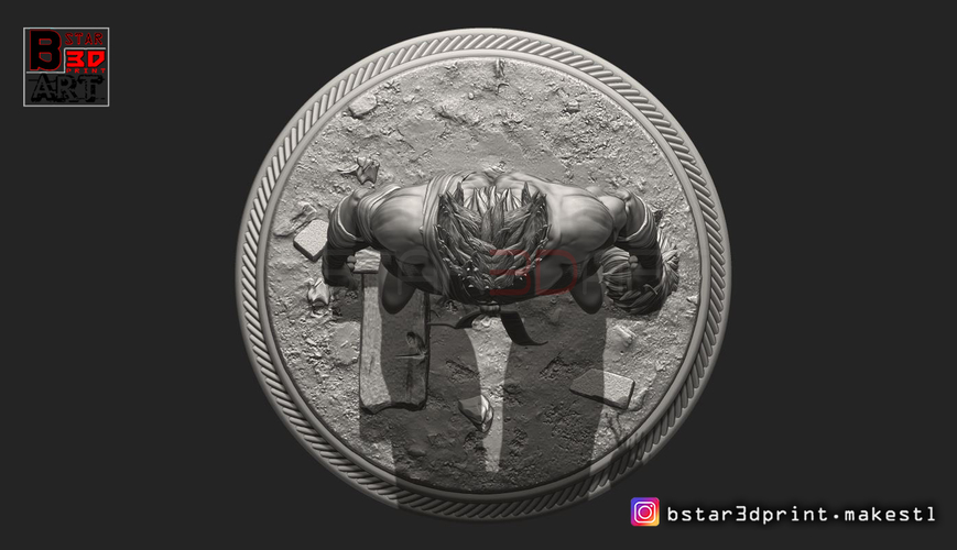 ​Garou - One punch Man - Fan Art - Realistic Version 3D Print 250548