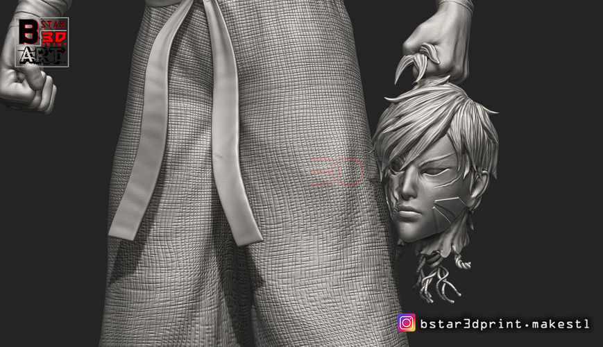 ​Garou - One punch Man - Fan Art - Realistic Version 3D Print 250549