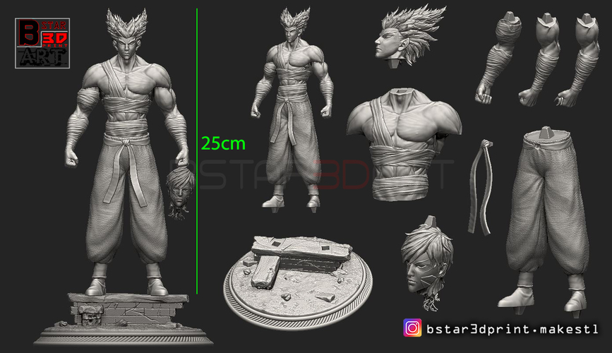 ​Garou - One punch Man - Fan Art - Realistic Version 3D Print 250550