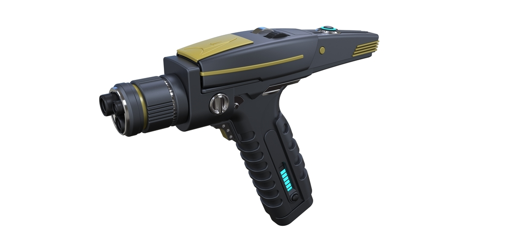Accurate replica of Phaser pistol from Star Trek Discovery 3D Print 250552