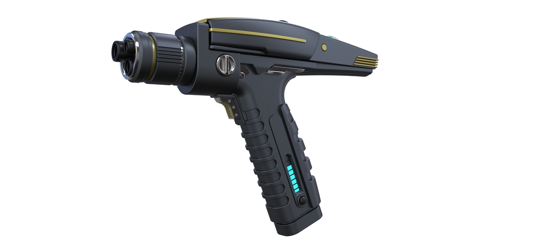 Accurate replica of Phaser pistol from Star Trek Discovery 3D Print 250553