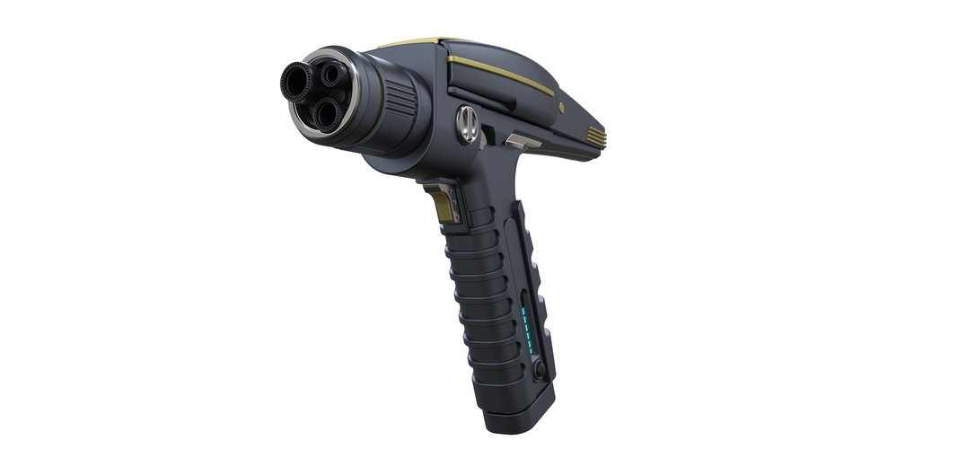 Accurate replica of Phaser pistol from Star Trek Discovery 3D Print 250555