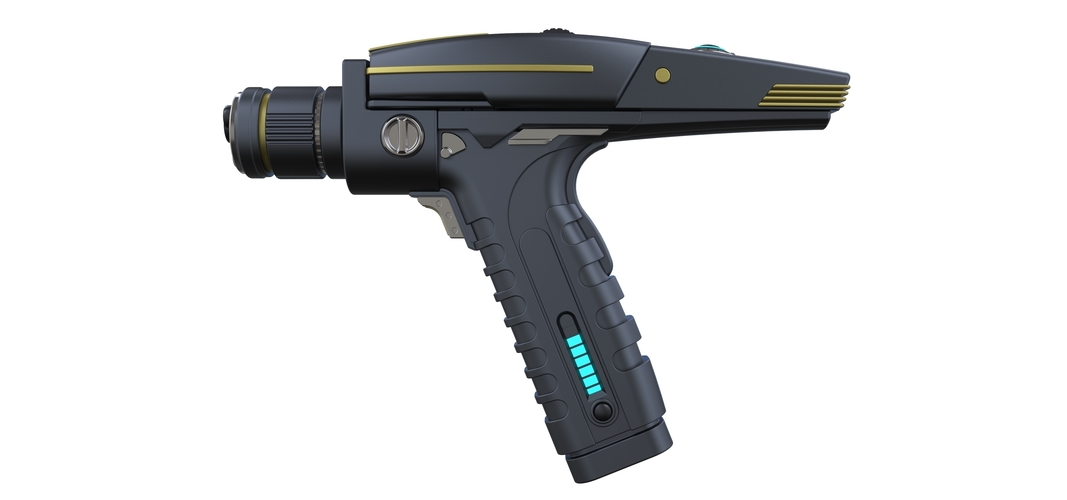 Accurate replica of Phaser pistol from Star Trek Discovery 3D Print 250558