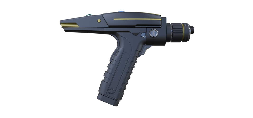 Accurate replica of Phaser pistol from Star Trek Discovery 3D Print 250561