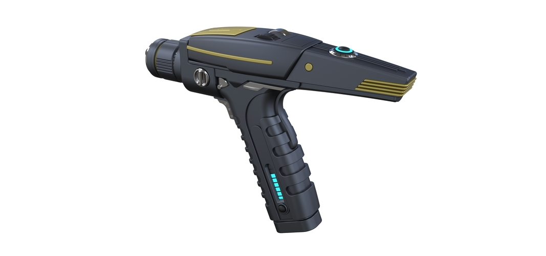 Accurate replica of Phaser pistol from Star Trek Discovery 3D Print 250563