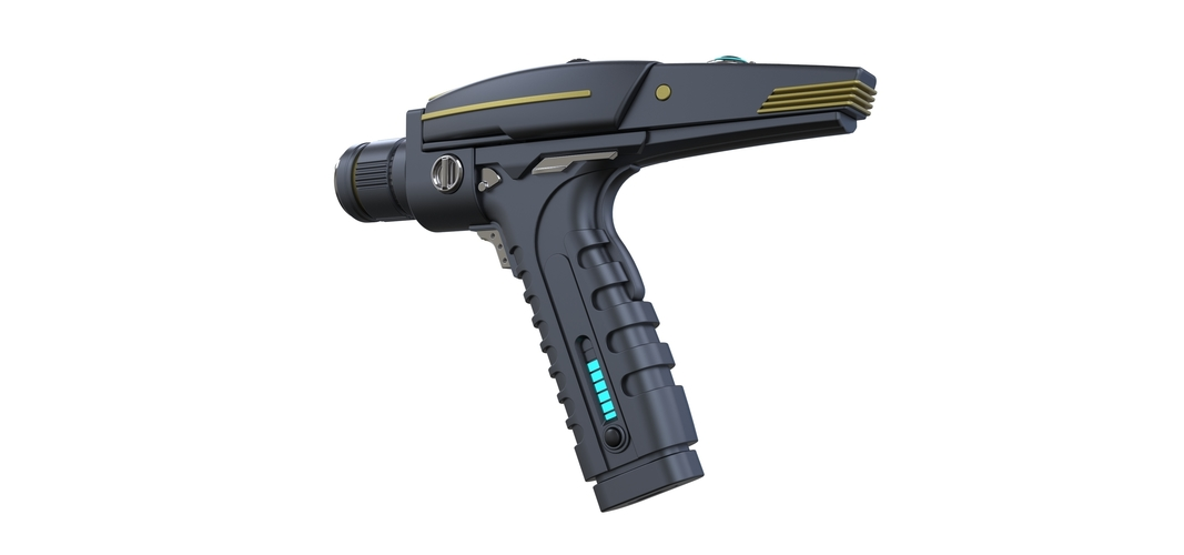 Accurate replica of Phaser pistol from Star Trek Discovery 3D Print 250564