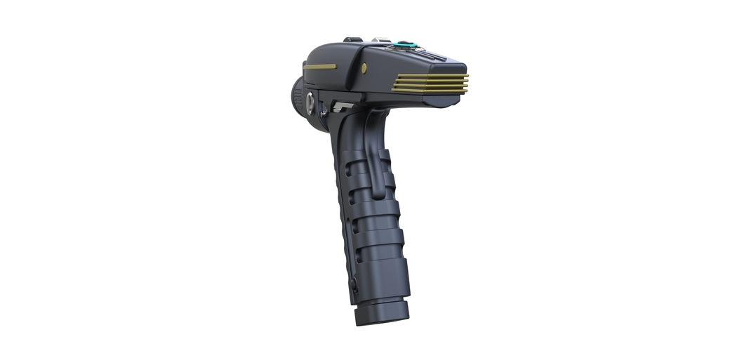 Accurate replica of Phaser pistol from Star Trek Discovery 3D Print 250566