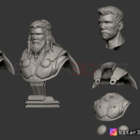 Small Thor Bust Avenger bust - 2 Heads - Infinity war - Endgame  3D Printing 250577