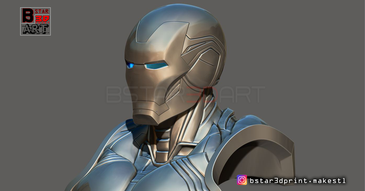 Ironman Mark 85 Bust - Infinity war Endgame - from Marvel @ Pinshape