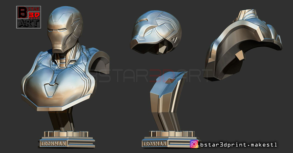 Medium Ironman Mark 85 Bust - Infinity war Endgame - from Marvel 3D Printing 250630