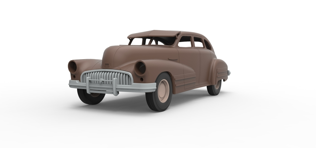Diecast shell and wheels Buick Scale 1 to 24 3D Print 250696
