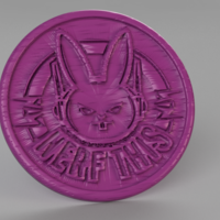 Small Nerf this coaster (overwatch) 3D Printing 250792