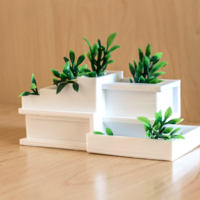 Small Modern Architecture Planter 3D Printing 250814