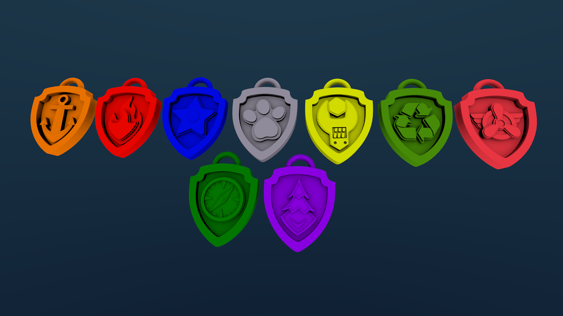 3d Printed Paw Patrol Badges Updated July 19 By Endless3d Pinshape