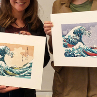 Small Ukiyo-e Woodblock Printing - The Great Wave Off Kanagawa 3D Printing 250901