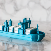 Small Container Ship 3D Printing 250910