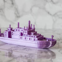 Small Research Vessel 3D Printing 250913