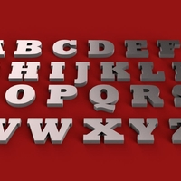 Small ROCKWELL EXTRA BOLD font uppercase and lowercase 3D letters 3D Printing 250933