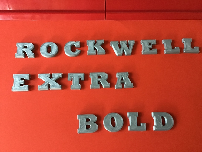 ROCKWELL EXTRA BOLD font uppercase and lowercase 3D letters 3D Print 250934