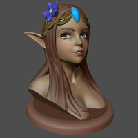 Small Elf Bust 3D Printing 250970
