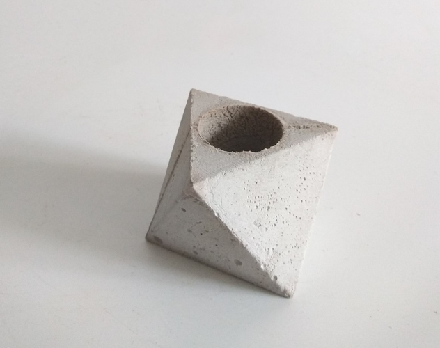 3 in 1 Mini Octahedron Concrete Planter Mold (Harom Farkas) 3D Print 250976
