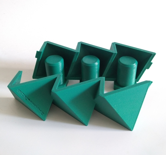 3 in 1 Mini Octahedron Concrete Planter Mold (Harom Farkas) 3D Print 250977