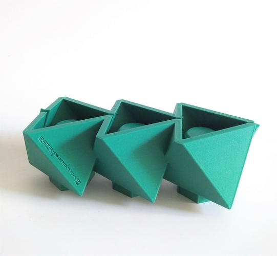 3 in 1 Mini Octahedron Concrete Planter Mold (Harom Farkas) 3D Print 250979
