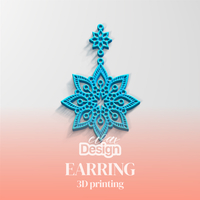 Small Earring 3D Printing 251081