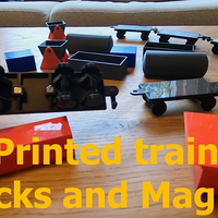 Small Model train - Building blocsk - Magnets 3D Printing 251293