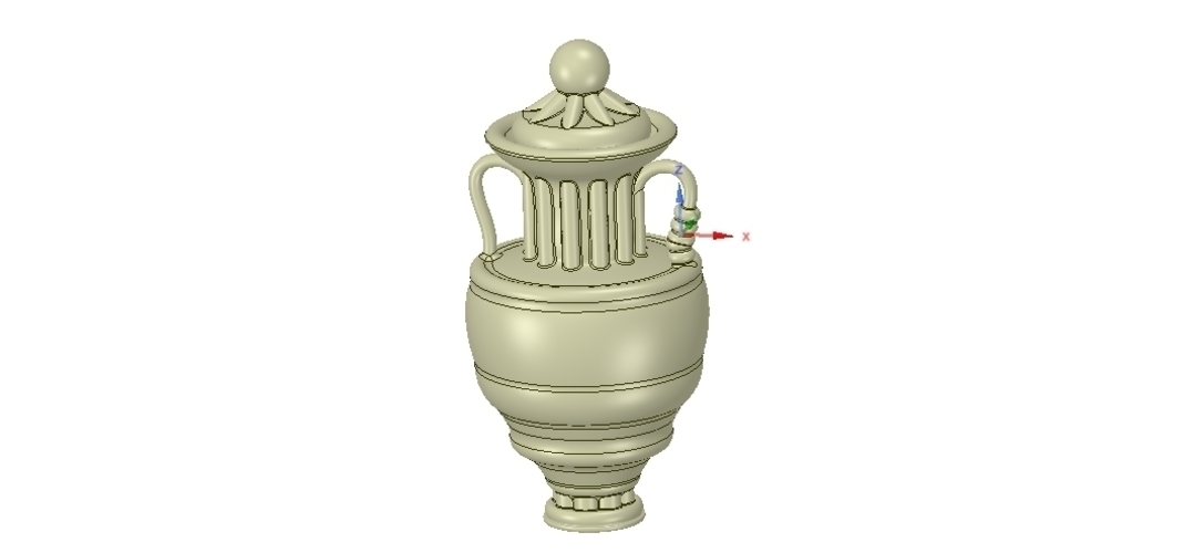 amphora cup vessel for dust 3D Print 251343