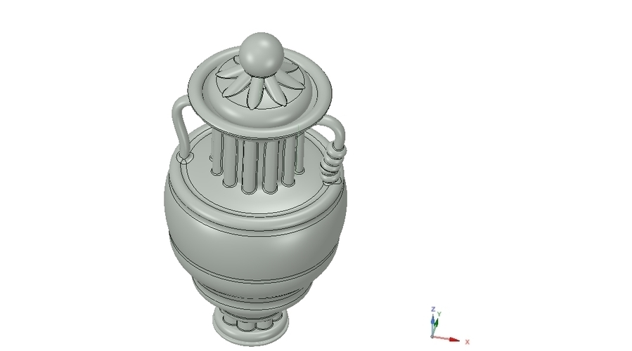 amphora cup vessel for dust 3D Print 251352