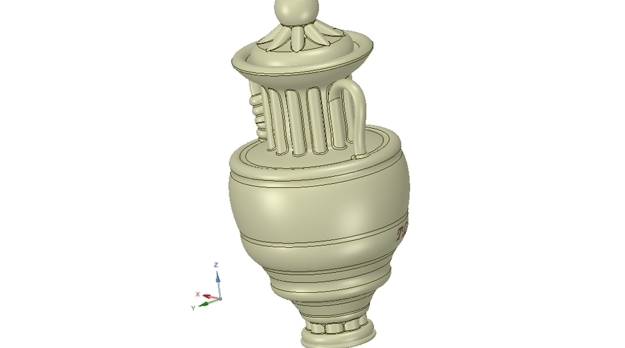 amphora cup vessel for dust 3D Print 251358