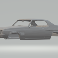 Small Holden HQ Monaro GTS 1971 3D Printing 251469