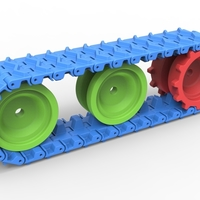 Small Track for toy models 3D Printing 251495