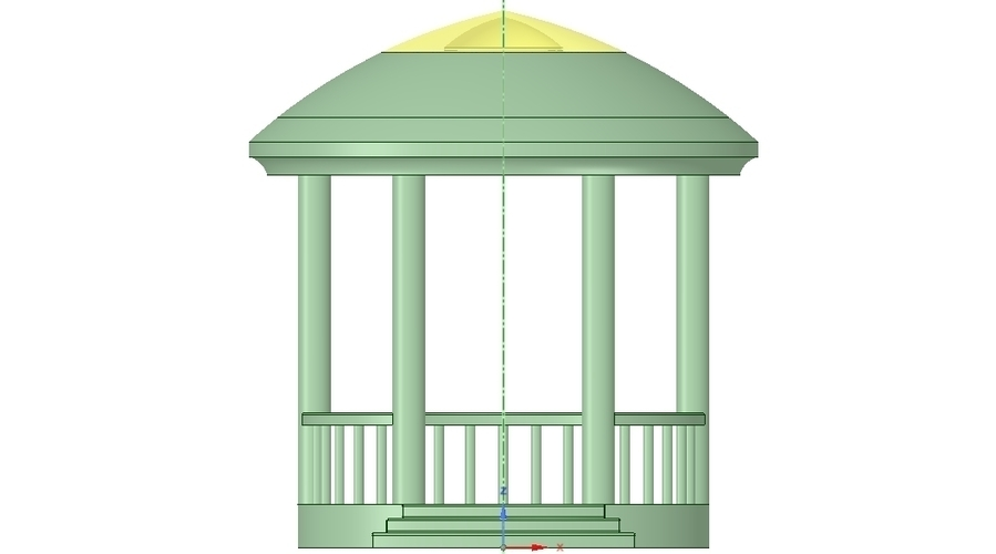 Rotunda arbor terrace for 3D printing and assembly 3D Print 251656