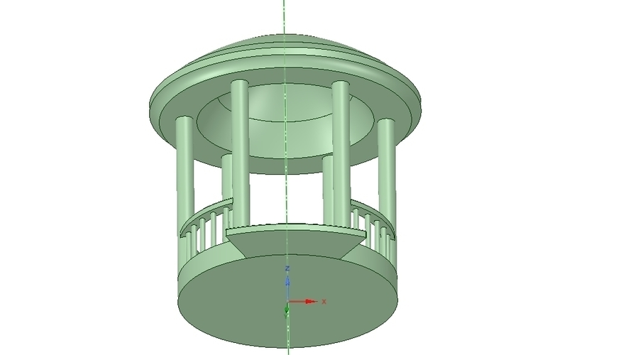 Rotunda arbor terrace for 3D printing and assembly 3D Print 251657