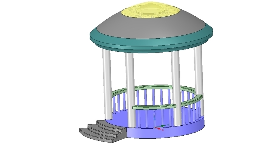 Rotunda arbor terrace for 3D printing and assembly 3D Print 251660