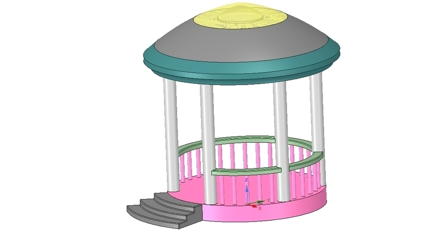 Rotunda arbor terrace for 3D printing and assembly 3D Print 251663