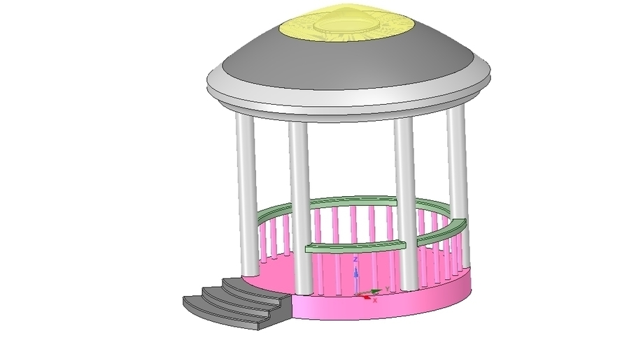 Rotunda arbor terrace for 3D printing and assembly 3D Print 251664