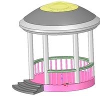 Small Rotunda arbor terrace for 3D printing and assembly 3D Printing 251664
