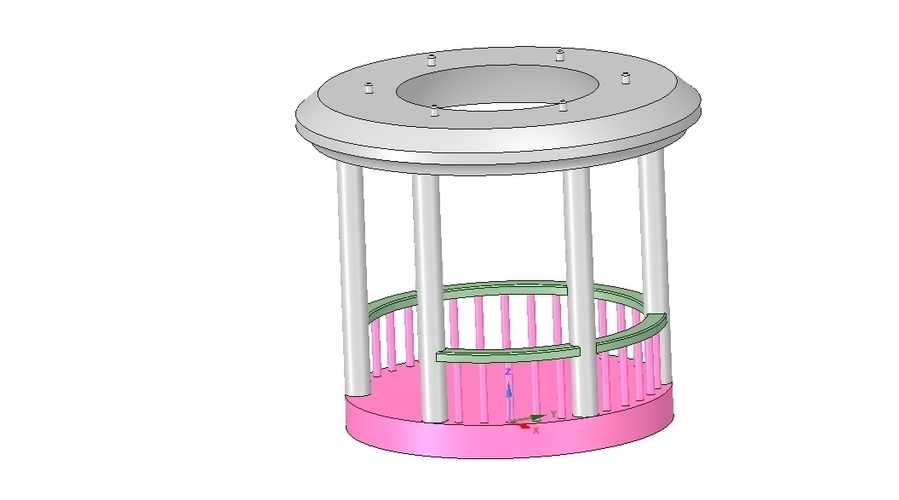 Rotunda arbor terrace for 3D printing and assembly 3D Print 251667