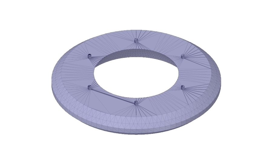 Rotunda arbor terrace for 3D printing and assembly 3D Print 251674