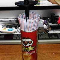 Small Pringles Can Straw Dispenser (for big printers) 3D Printing 25169