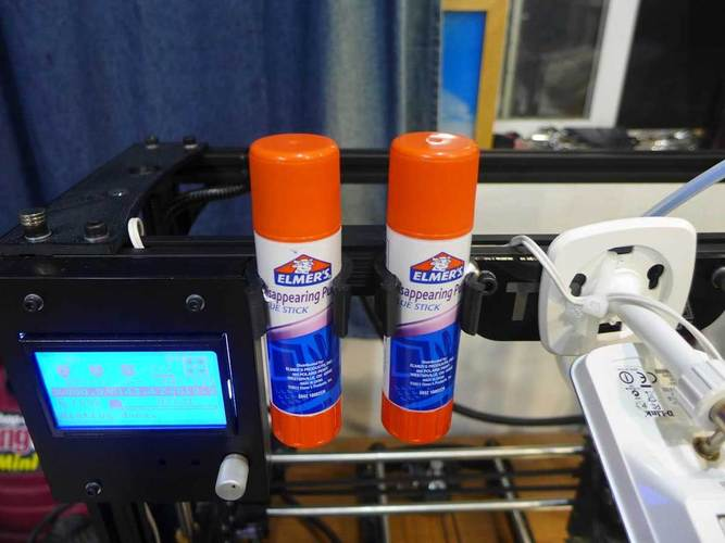 Jumbo Glue Stick Mount for TAZ or others with 20mm extruded fram 3D Print 25172