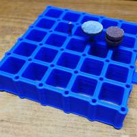 Small Dremel 36 Bit Holder Grid. 3D Printing 25173