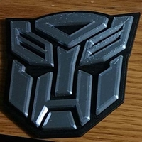 Small Autobot logo 2 pieces 3D Printing 251763